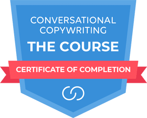 Conversational Copywriting Certificate of Completion